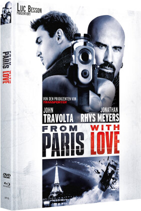 From Paris with Love (2010) (Cover C, Limited Edition, Mediabook, Blu-ray + DVD)