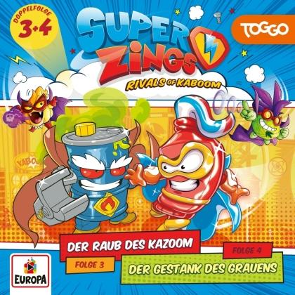 SuperZings - Folge 3: Der Raub des Kazoom / Folge 4: Der Gestan