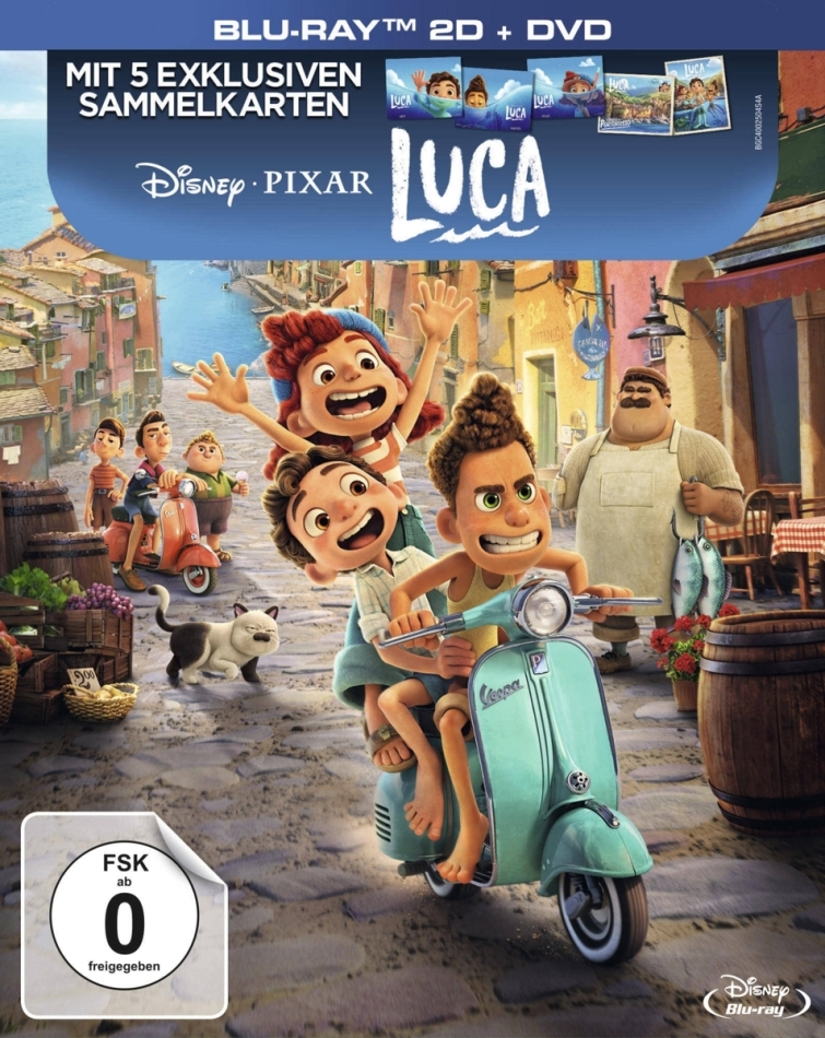 Luca (2021) (Digipack, Deluxe Edition, Blu-ray + DVD)