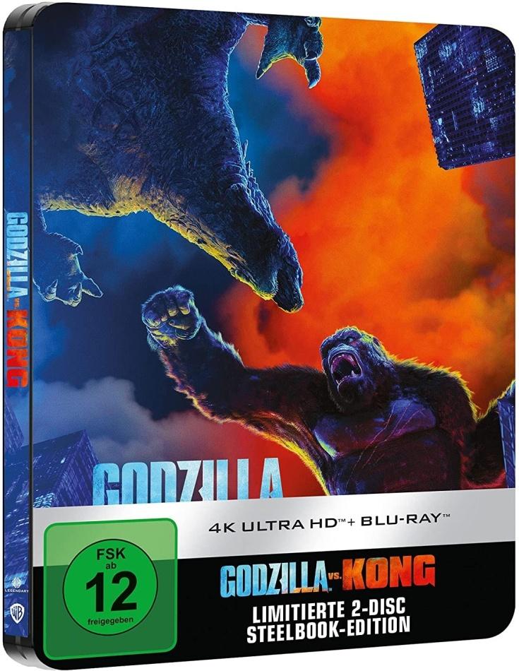 Godzilla vs. Kong (2021) (Limited Edition, Steelbook, 4K Ultra HD + Blu-ray)