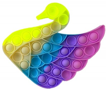 Fidget Push Pop It Bubble Swan Multicolor .
