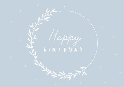 Happy Birthday Doppelkarte