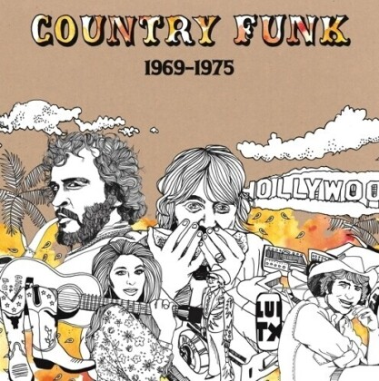 Country Funk 1969-1975 - Vol. 1 (2021 Reissue, Gatefold, Light In The Attic, Remastered, Orange Swirl Vinyl, 2 LPs)