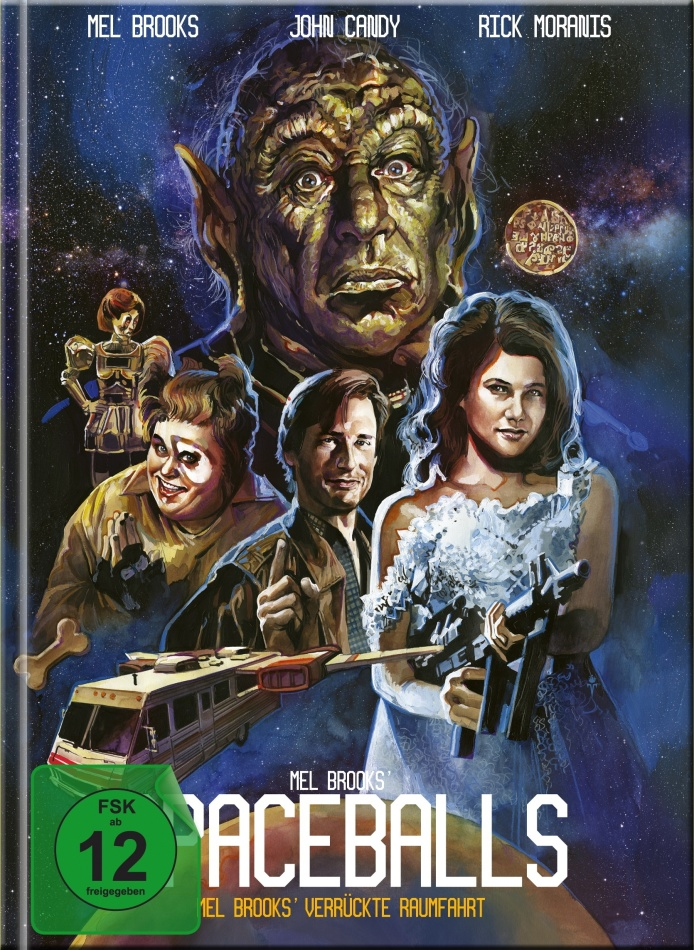 Spaceballs (1987) (Cover C, Limited Edition, Mediabook, Blu-ray + DVD)