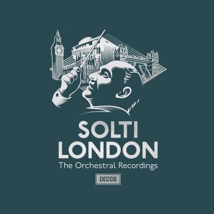 Wolfgang Amadeus Mozart (1756-1791), Ludwig van Beethoven (1770-1827), Joseph Haydn (1732-1809), Sir Edward Elgar (1857-1934), Béla Bartók (1881-1945), … - Solti In London - Die Orchester-Aufnahmen (36 CDs)