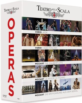Various Artist - Teatro Alla Scala Operas - Aida / Die Zauberflöte / Le Nozze di Figaro / Die Entführung aus dem Serail (4 Blu-rays)