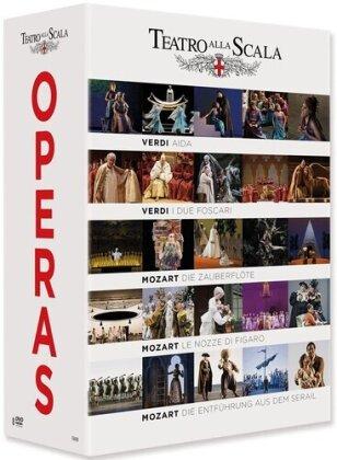 Various Artist - Teatro Alla Scala Operas - Aida / Die Zauberflöte / Le Nozze di Figaro / Die Entführung aus dem Serail (4 DVDs)