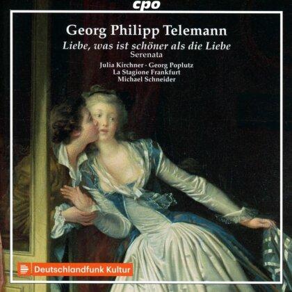 Michael Schneider (*1964), Julia Kirchner, Georg Poplutz, La Stagione Frankfurt & Georg Philipp Telemann (1681-1767) - Liebe, was ist schöner als die Liebe