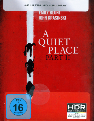A Quiet Place 2 (2020) (Limited Edition, Steelbook, 4K Ultra HD + Blu-ray)