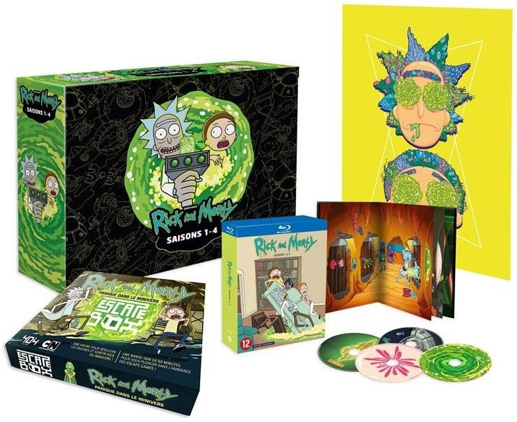 Rick and Morty - Saisons 1-4 (Collector's Edition, Limited Edition, 4 Blu-rays)