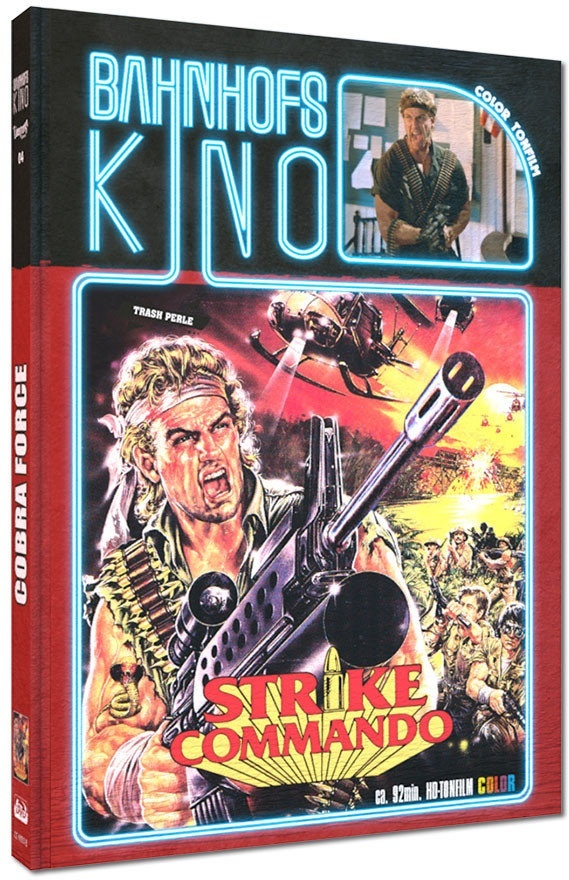 Cobra Force - Strike Commando (1986) (Cover B, Bahnhofskino, Edizione Limitata, Mediabook, Blu-ray + DVD)