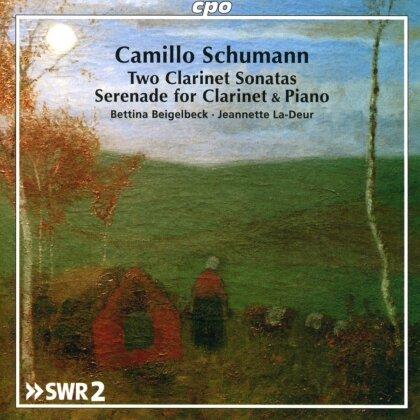 Camillo Schumann (1872-1646), Bettina Beigelbeck & Jeannette La-Deur - Works for Clarinet & Piano