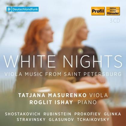 Serge Prokofieff (1891-1953), Dimitri Schostakowitsch (1906-1975), Michail Glinka (1804-1857), Alexander Glazunov (1865-1936), Igor Strawinsky (1882-1971), … - White Nights - Music For Viola & Piano From St. Petersburg (3 CDs)