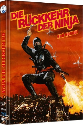 Die Rückkehr der Ninja - Ninja 2 (1983) (Cover C, Limited Edition, Mediabook, Blu-ray + DVD)