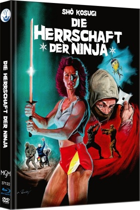 Die Herrschaft der Ninja - Ninja 3 (1984) (Cover A, Limited Edition, Mediabook, Blu-ray + DVD)