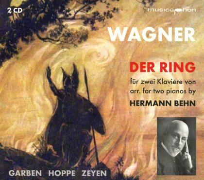 Zeyen, Thomas Hoppe, Justus Zeyen & Richard Wagner (1813-1883) - Der Ring Des Nibelungen Wwv 86 Für 2 Klaviere - arr. von Hermann Behn (2 CDs)