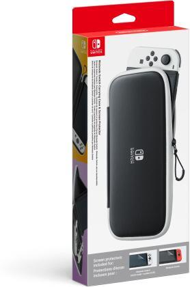 Nintendo Switch-Tasche & -Schutzfolie - Schwarz/Weiß