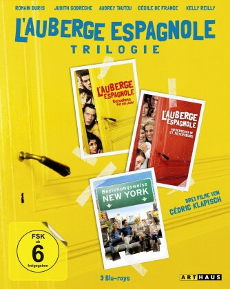 L'auberge espagnole Trilogie - L'auberge espagnole / Wiedersehen in St. Petersburg / Beziehungsweise New York (3 Blu-rays)