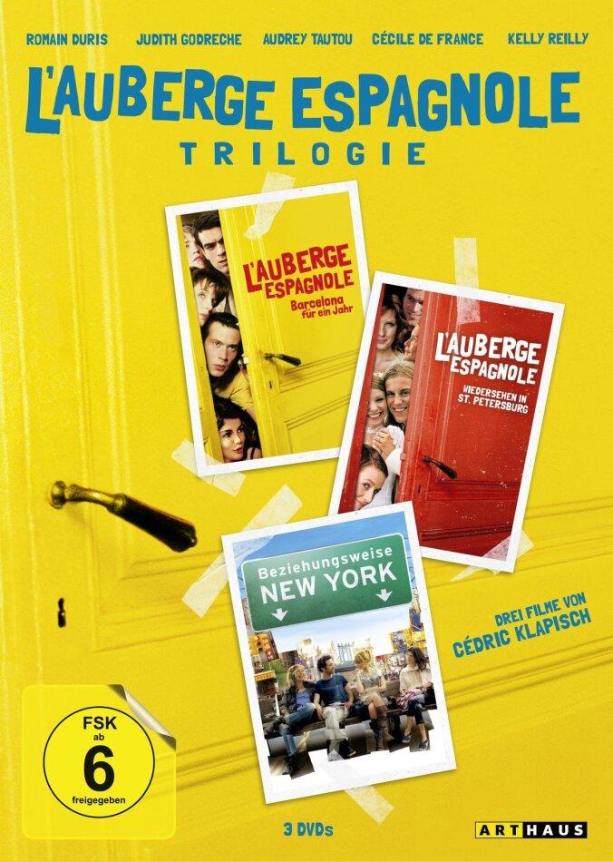 L'auberge espagnole Trilogie - L'auberge espagnole / Wiedersehen in St. Petersburg / Beziehungsweise New York (3 DVDs)