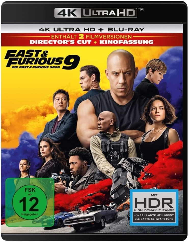 Fast & Furious 9 - Die Fast & Furious Saga (2021) (4K Ultra HD + Blu-ray)