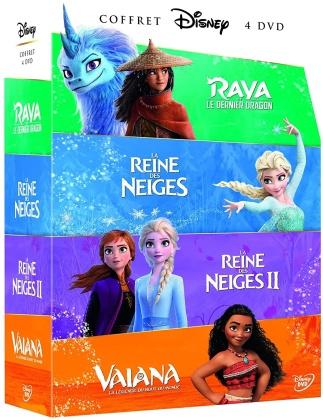 Princesses Boxset 2021 - Raya et le dernier dragon / La Reine des Neiges / La Reine des Neiges 2 / Vaiana - La légende du bout du monde (4 DVD)