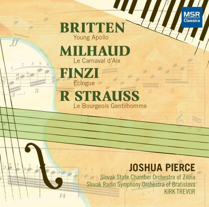 Slovak State Chamber Orchestra of Zilna, Benjamin Britten (1913-1976), Darius Milhaud (1892-1974), Richard Strauss (1864-1949), Gerald Finzi (1901-1956), … - Concertos