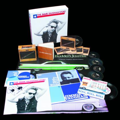 """Jimmie Vaughan - Jimmie Vaughan Story (Oversize Item Split, 5 CD + LP + 2 7"""" Singles + Libro)"""