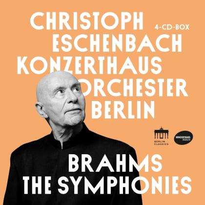 Konzerthausorchester Berlin, Johannes Brahms (1833-1897) & Christoph Eschenbach - Symphonies (4 CDs)