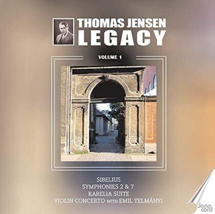 Jean Sibelius (1865-1957), Thomas Jensen, Emil Telmányi & Danish Radio Symphony Orchestra - Thomas Jensen Legacy 1 - Symphonies 2 & 7, Karelia Suite, Violin Concerto (2 CDs)
