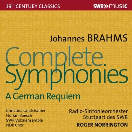 NDR Chor, Johannes Brahms (1833-1897) & Sir Roger Norrington - Complete Symphonies (4 CDs)