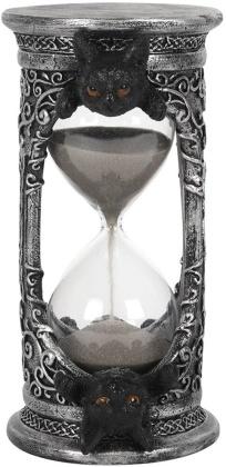 Black Cat Hourglass Timer