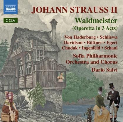 Johann Strauss II (1825-1899), Dario Salvi, Annika Egert, Dorothe Ingenfeld, Robert Davidson, … - Waldmeister (2 CDs)