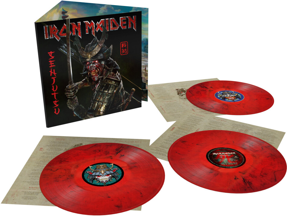 Iron Maiden - Senjutsu (Limited Edition, Red/Black Marbled Vinyl, 3 LPs)