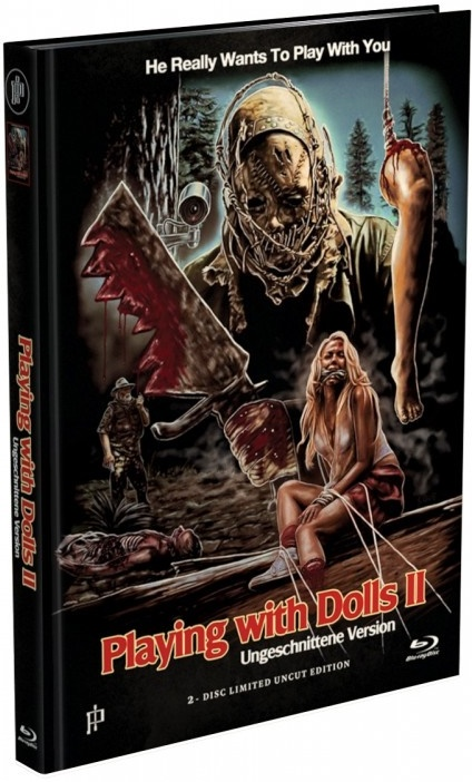 Playing with Dolls 2 (2016) (Cover A, Limited Edition, Mediabook, Uncut, Blu-ray + DVD)