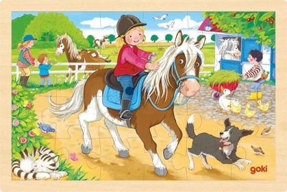 Einlegepuzzle Ponyhof