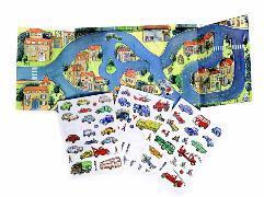 Magnetspiel Fahrzeuge 24 x 25 x 1 cm