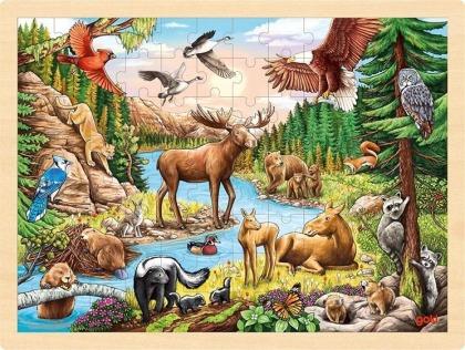 Einlegepuzzle Nordamerikanische Wildnis