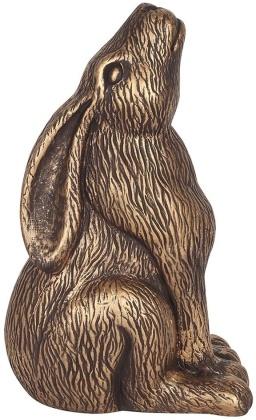 Bronze Terracotta Moon Gazing Hare Ornament
