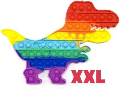Pop It! Rainbow Dinosaurier XXL