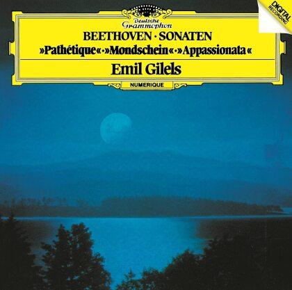 Ludwig van Beethoven (1770-1827) & Emil Gilels - Sonaten - Pathétique, Mondschein, Appassionata (Japan Edition)