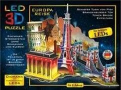 LED Diorama Puzzle. Motiv - Europa Reise 51 Teile