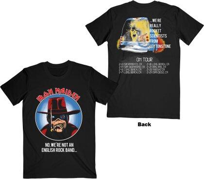 Iron Maiden - Not An English Rock Band (Black) T-Shirt - Grösse XL