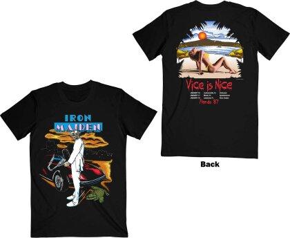 Iron Maiden - Vice Is Nice (Black) T-Shirt - Grösse XL