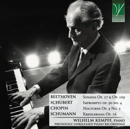 Ludwig van Beethoven (1770-1827), Franz Schubert (1797-1828), Frédéric Chopin (1810-1849), Robert Schumann (1810-1856) & Wilhelm Kempff - Beethoven, Chopin, Schubert, Schumann - Previously Unreleased Piano Music