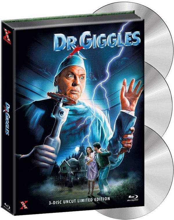 Dr. Giggles (1992) (Wattiert, Limited Collector's Edition, Mediabook, Uncut, Blu-ray + DVD + CD)