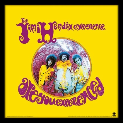 """Jimi Hendrix: Are You Experienced 12"""" Album Cover - Framed Print"""