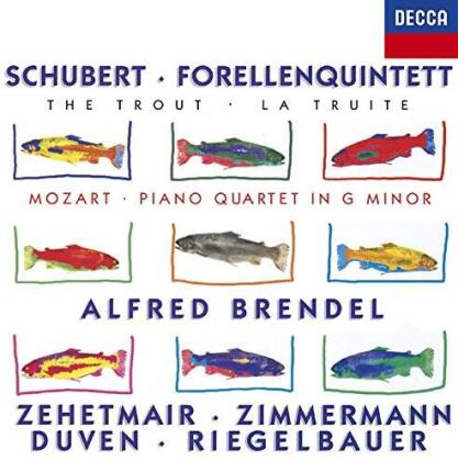 Alfred Brendel, Thomas Zehetmair, Zimmermann, Duven, Riegelbauer, … - Schubert: Forellenquintett / Mozart: Piano Quartet (Japan Edition)