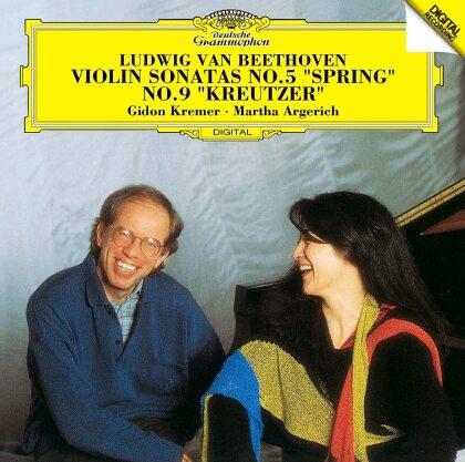 Martha Argerich, Ludwig van Beethoven (1770-1827) & Gidon Kremer - Violin Sonatas 5 Spring & 9 Kreutzer (Japan Edition)