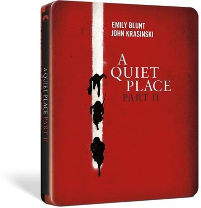 A Quiet Place II (2020) (Steelbook, 4K Ultra HD + Blu-ray)