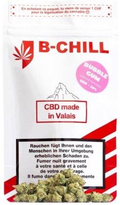 B-Chill Bubble Gum (Kleine Blüten 10g) - (CBD: <20% THC: <0.82%)